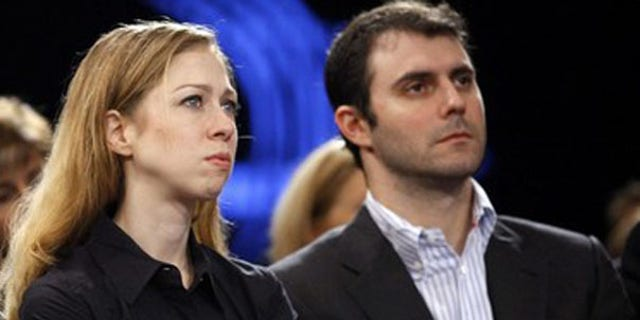 Sept. 25, 2009: Chelsea Clinton and Marc Mezvinsky at the Clinton Global Initiative in New York (Reuters)