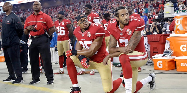 Colin Kaepernick began kneeling during the playing of the anthem prior to the 2016 NFL season.