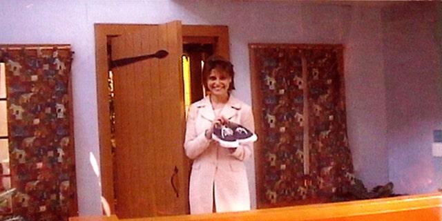 "Angela Santomero on the set of ""Mister Rogers' Neighborhood."""