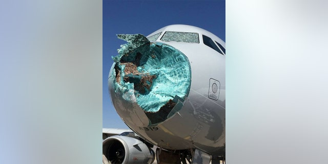 Esparaza said passengers observed lighting outside their windows during the flight and said it sounded like the plane was being pelted with hail.
