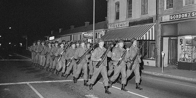 South Carolina National Guard Troops in Orangeburg, SC