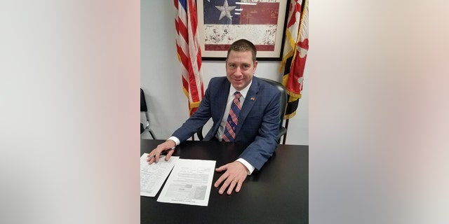 Sheriff's deputy Aaron Penman, a Harford County Republican who is running for a seat in the Maryland House of Delegates, seat raffled off an AR-15 assault weapon at a Saturday night fundraiser celebrating the Second Amendment — only days after the same type of weapon was used to kill 17 people at a Florida high school. (Facebook)