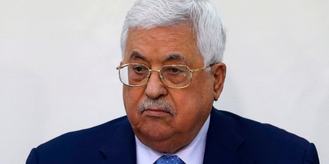 In this March 1, 2018 file photo, Palestinian President Mahmoud Abbas attends a meeting of the Fatah Revolutionary Council in the West Bank city of Ramallah.