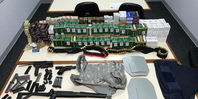 The ammo stash found inside the home in Aberdeen, Md.
