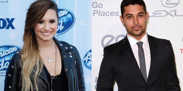 Pop singer Demi Lovato (left) and actor Wilmer Valderrama.