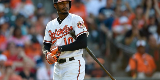 Baltimore's Adam Jones said he was a victim of racial slurs when he played at Fenway Park in May.