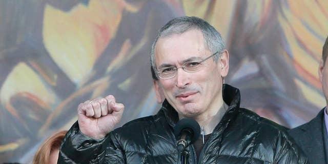 Russian opposition figure Mikhail Khodorkovsky.