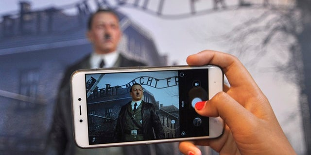 The wax figure of Adolf Hitler garnered controversy from human rights groups.