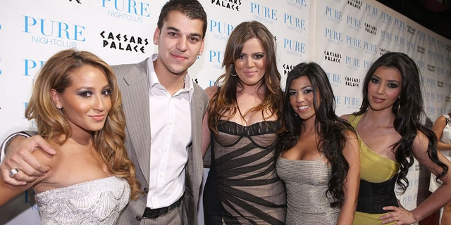 Bailon and Kardashian dated from 2007 to 2009 and their breakup was aired on for the world to see on the Kardashian's reality show. Here Bailon poses with Rob, Khloe, Kourtney and Kim in 2008.