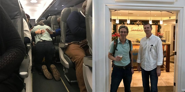 Doctors Matthew Stevenson and John Flanagan jumped into action to save a woman struggling to breathe on a JetBlue flight.