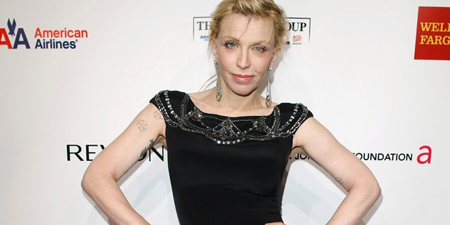 Singer Courtney Love arrives for the Elton John Aids Foundation charity event An Enduring Vision 2012 in New York October 15, 2012.