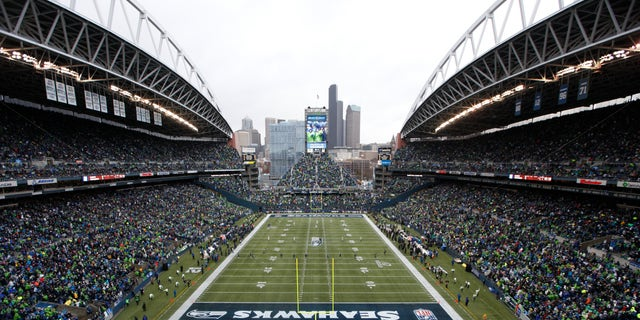 "Fans at CenturyLink Field watch during the first quarter of an NFC divisional playoff NFL football game between the Seattle Seahawks and the New Orleans Saints in Seattle in 2014.<br data-cke-eol=""1"">"