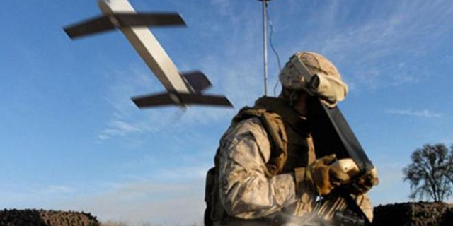 """South Korea is developing a """"suicide drone,"""" similiar to this Switchblade model from U.S. company Aerovironment."""