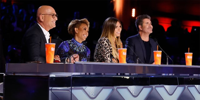 'America's Got Talent' judges Howie Mandel, Mel B, Heidi Klum and Simon Cowell