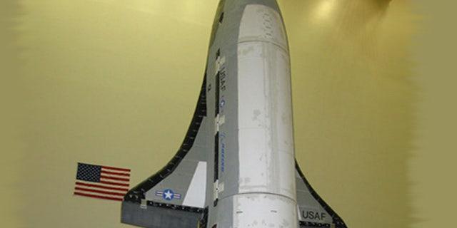 The X-37B/Orbital Test Vehicle spacecraft undergoes final testing at Boeing.