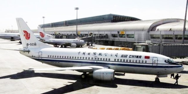 The incident occurred on the state-owned Air China Airlines.