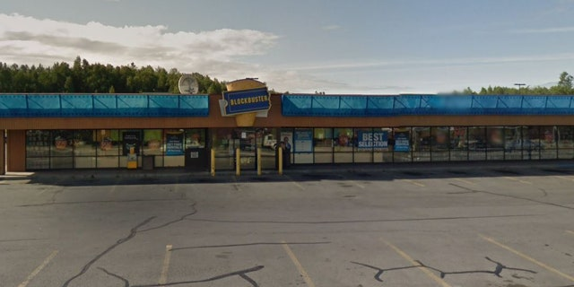 The last Blockbuster Video in Alaska, located in Anchorage.