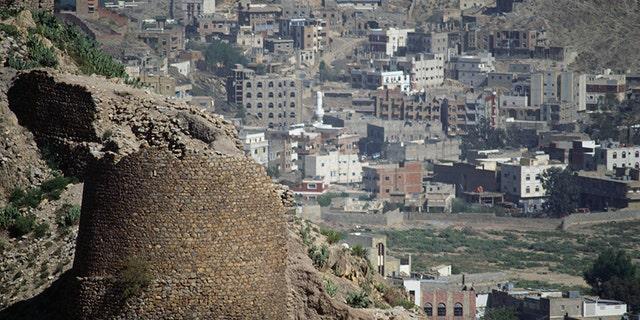 The 12th-century al-Qahira citadel in Taiz, Yemen, has been maimed in the ongoing war.