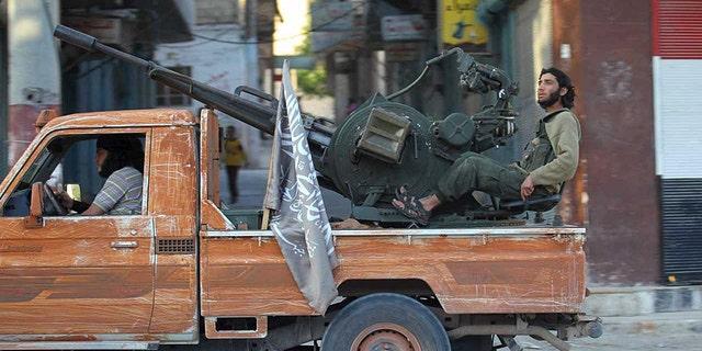 Members of Al-Qaeda's Jabhat al-Nusra in Idlib Province, Syria