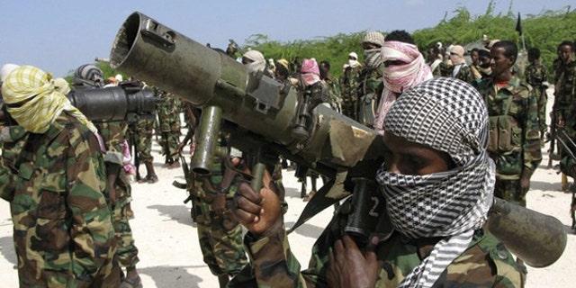 Members of Somalia's Islamist rebel group al Shabaab are seen in Mogadishu, in an undated photo.