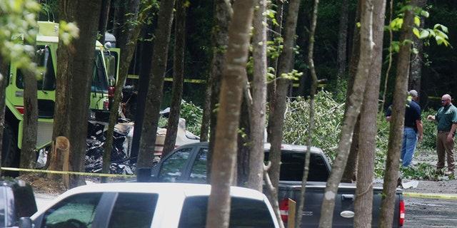 The scene of the crash in Tuscaloosa.