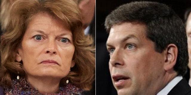 Lawyers for Sen. Lisa Murkowski, left, are demanding fellow Alaska Sen. Mark Begich, right, stop using her likeness in his ads.