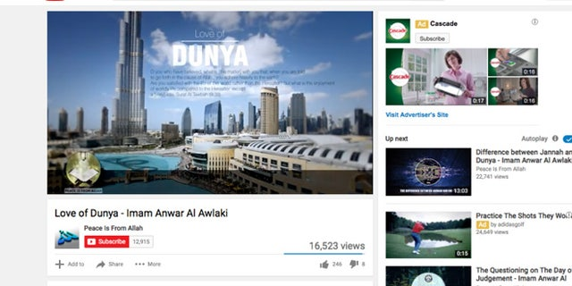 Al-Awlaki's sermons appear on hundreds of YouTube channels.
