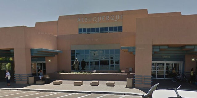 The man, whose name wasn't immediately released, boarded a flight around 8 a.m. Sunday at Albuquerque International Sunport.