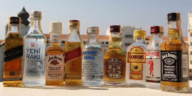 You can take as many of these as you can fit in a zip-top bag, but you may not be allowed to drink them on the flight.