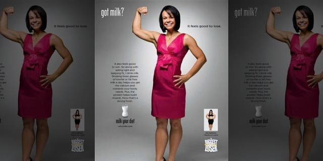 "In this 2008 image released by the Milk Processor Education Program, Ali Vincent is shown in the latest ""got milk"" print advertisement. (AP)"