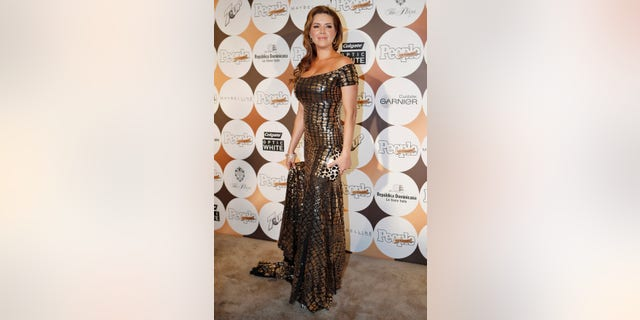 """Alicia Machado arrives to attend People En Espanol's annual """"50 Most Beautiful"""" event in New York, May 15, 2012."""