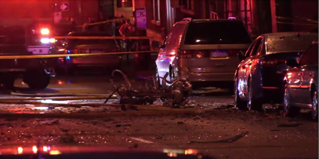 At least one person was killed after a car exploded in Allentown, Pa. on Saturday.