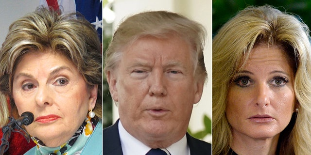 """President Donald Trump again slammed """"fake news"""" Monday, this time denouncing sexual assault allegations made against him after a former contestant from """"The Apprentice"""" filed a subpoena against the Trump campaign."""