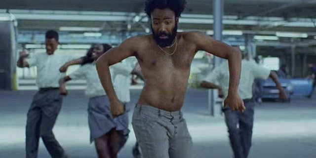 """Donald Glover has taken 2018 by storm as both an actor and musician. Here the rapper dances in the music video for """"This Is America.""""  (RAC Records)"""