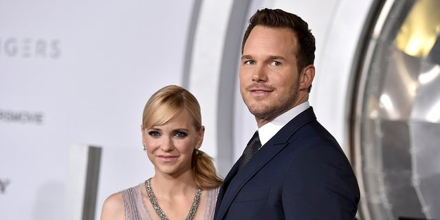 """FILE- In this Dec. 14, 2016, file photo, Chris Pratt, right, and Anna Faris arrive at the Los Angeles premiere of """"Passengers""""at the Village Theatre Westwood. Pratt and Faris have announced they are separating after eight years of marriage. The actors announced their breakup on social media Sunday, Aug. 6, 2017, in a joint statement confirmed by Pratt's publicist. (Photo by Jordan Strauss/Invision/AP, File)"""