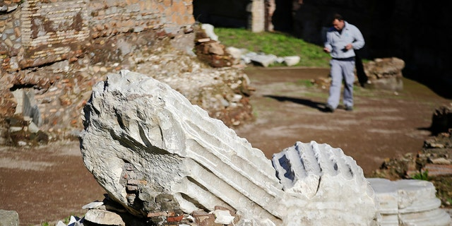 File photo: A man walks in the ancient Circus Maximus reopened to the public after restoration in Rome, Italy November 16, 2016. (REUTERS/Max Rossi)