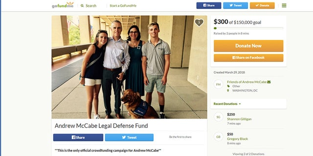 In less than a day, McCabe's GoFundMe raised more than $400,000, including from many small donations of $5 and $10.