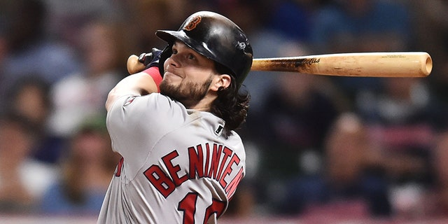 Red Sox star Andrew Benintendi was represented by baseball agent Jason Wood, who has been fired after being accused of recording clients in a shower.