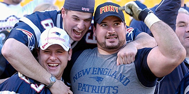 Joe Andruzzi, a former NFL offensive lineman who was diagnosed with non-Hodgkin's lymphoma in 2007, attended Monday's race to support runners raising money for his foundation supporting cancer research, NFL.com reports. Andruzzi, seen here in a 2009 photograph, sprang into action following the bombings and was seen carrying one victim to safety. (AP)
