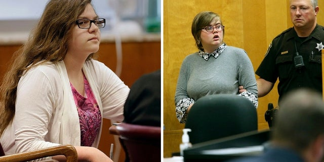 Anissa Weier (left) and Morgan Geyser (right) lured Payton Leutner into the woods at a park in the Milwaukee suburb of Waukesha in 2014 and attacked her, prosecutors said.