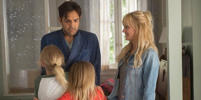 "This image released by Metro Goldwyn Mayer Pictures/Pantelion Films shows Anna Faris, right, and Eugenio Derbez in a scene from ""Overboard."""