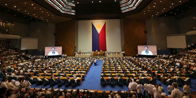 Philippine President Rodrigo Duterte delivers his second State of the Nation address.