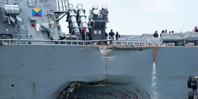 "The USS John S. McCain suffered ""significant damage"" in Monday morning's collision."