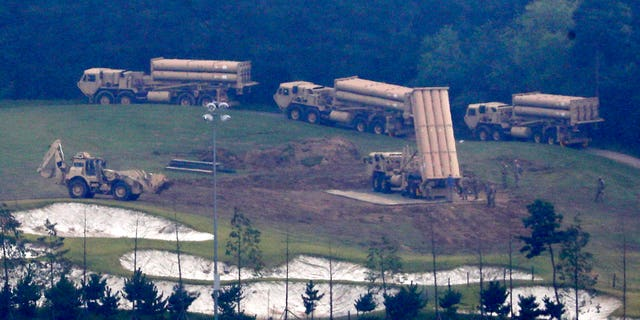South Korea says the U.S. military has completed placing more launchers on the high-tech U.S. missile-defense system installed in the southeast to better cope against North Korean threats. The deployment of the THAAD system has angered North Korea but also China and Russia, which see the system's powerful radar as a threat to their own security. (Kim Jun-beom/Yonhap via AP)