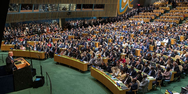 President Donald Trump speaks during the 72nd session of the United Nations General Assembly at U.N. headquarters, Tuesday, Sept. 19, 2017.