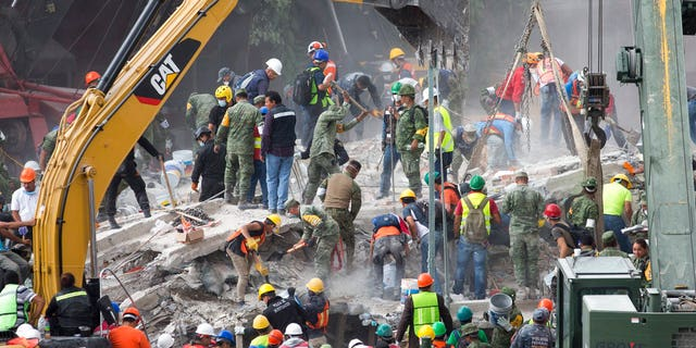 Thousands of workers dug through rubble in an attempt to find survivors after the powerful earthquake struck near Mexico City on Tuesday.