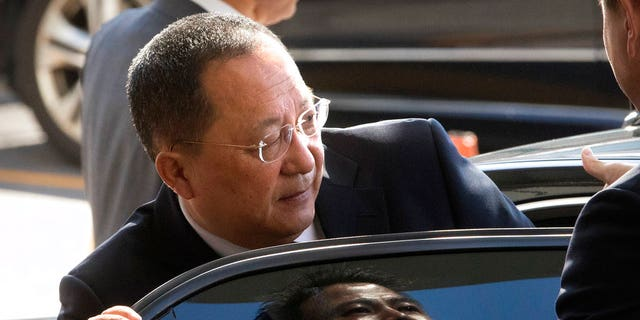 "North Korean Foreign Minister Ri Yong Ho described Trump's threats against Kim Jong Un's regime as ""the sound of a dog barking."""