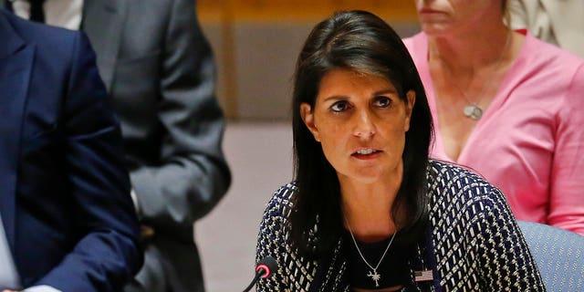 """A free press is fundamental to democracy,"" US Ambassador to the UN Nikki Haley said."