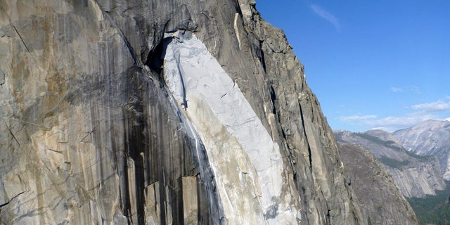 A rock climber fell from Higher Cathedral Spire in Yosemite National Park, following two other accidents at El Capitan (shown) in one week.