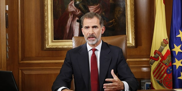 """King Felipe VI called the tension between Spain's central government an """"extremely serious situation"""" in a rare political address to the nation."""